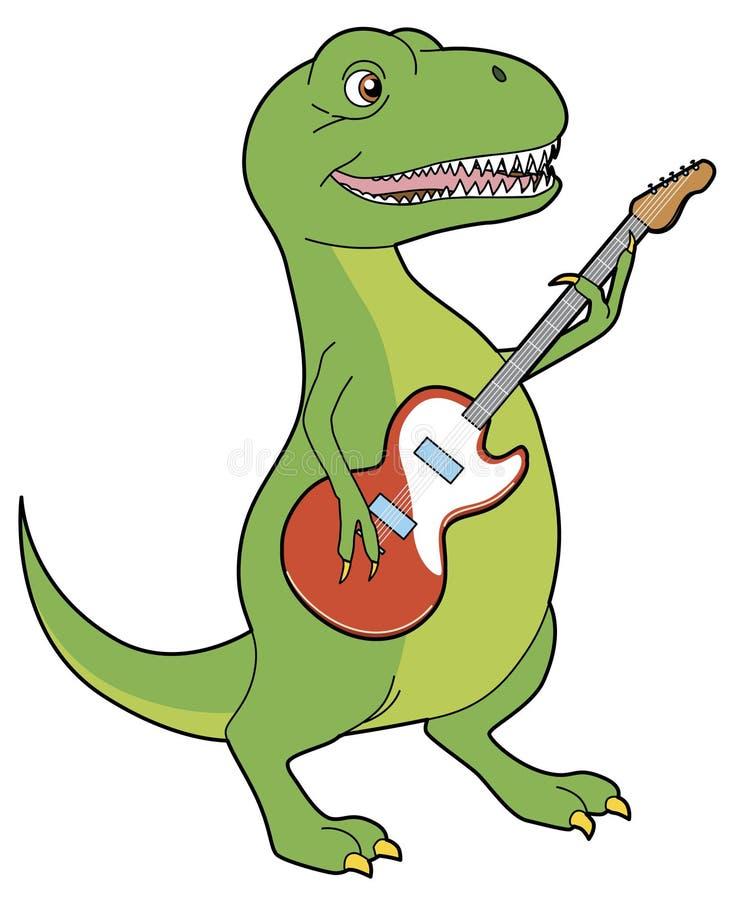 Tyrannosaurus rocker. Vector Tyrannosaurus rocker playing guitar vector illustration