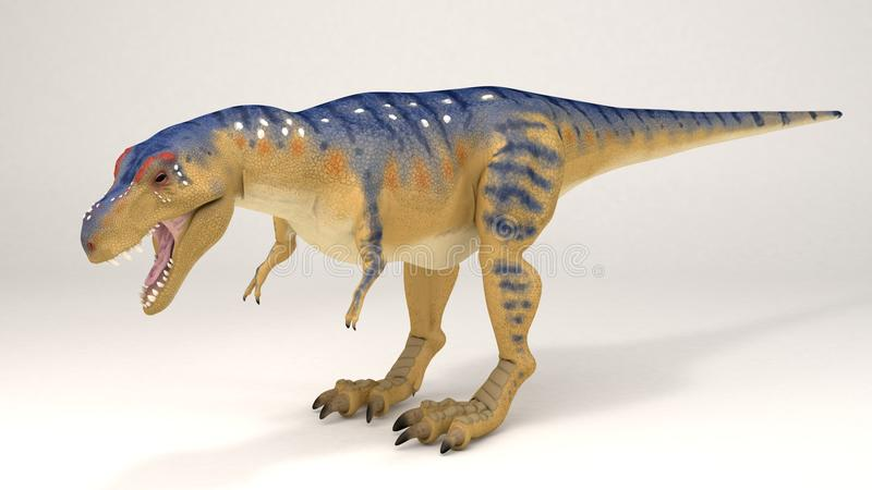 Tyrannosaurus-vardinosaurier stockbilder