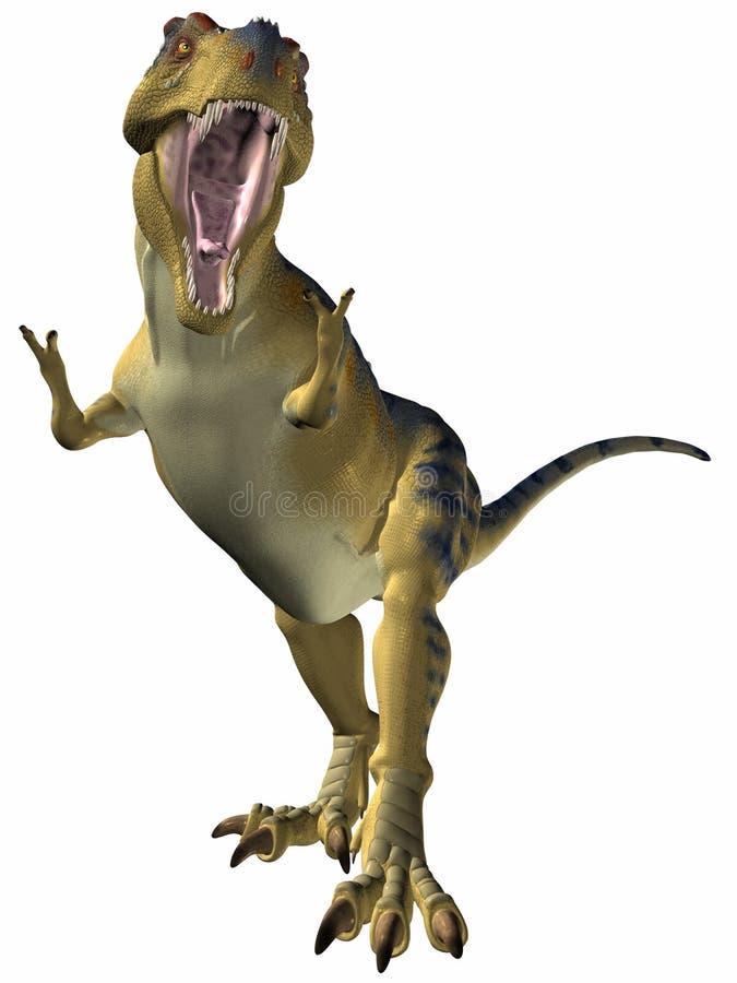 tyrannosaurus zagrożenia royalty ilustracja