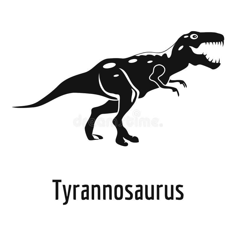 Tyrannosauruspictogram, eenvoudige stijl stock illustratie