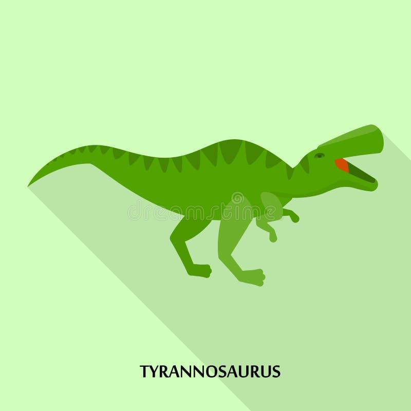 Tyrannosauruspictogram, vlakke stijl royalty-vrije illustratie