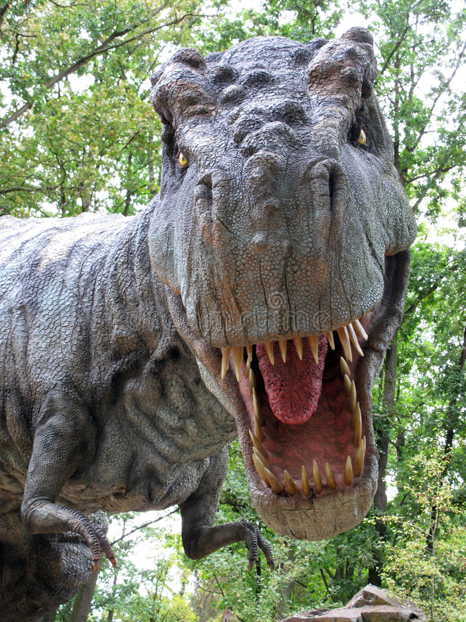Tyrannosaurussen Rex stock afbeeldingen
