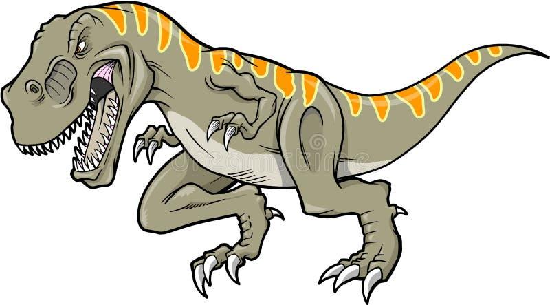 tyrannosaurusvektor vektor illustrationer