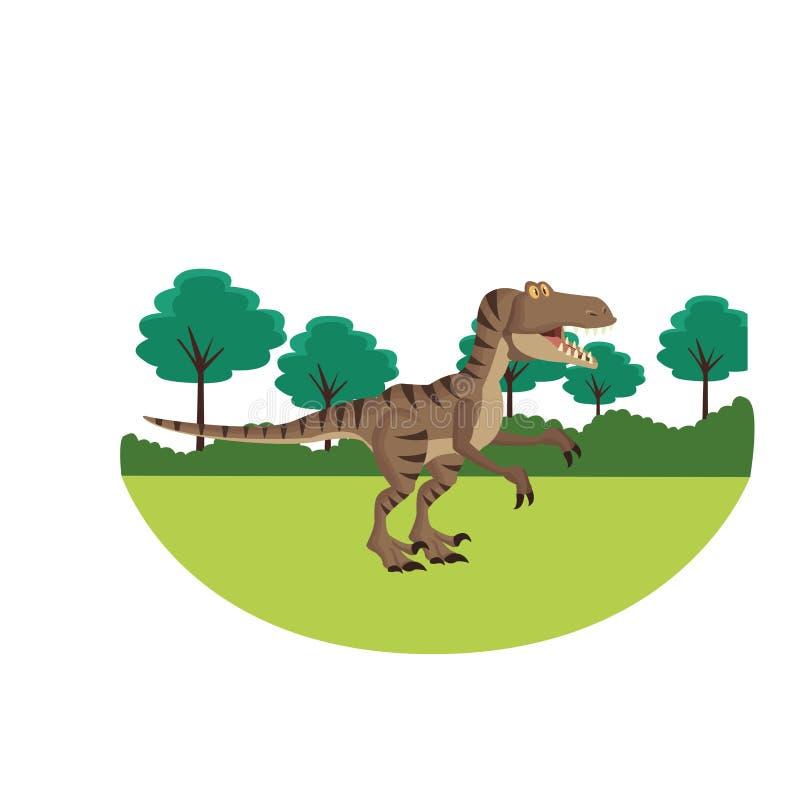 Tyranozaura dinosaura kreskówka ilustracji