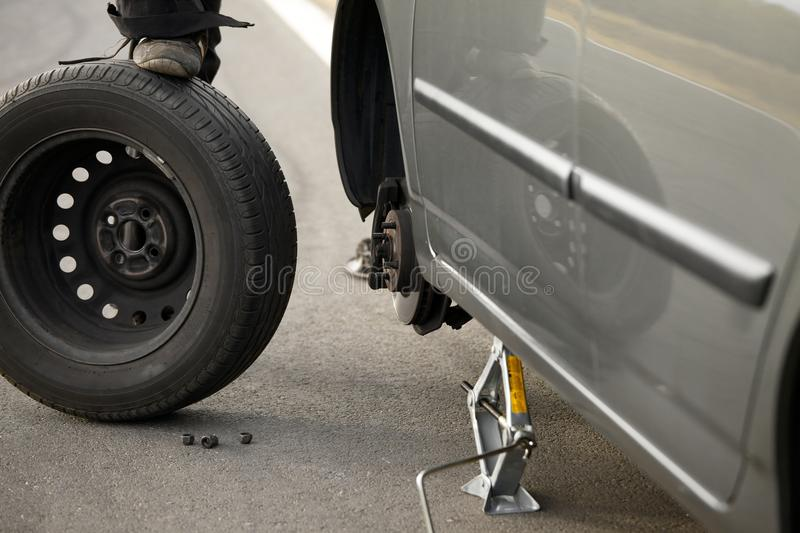 Download Tyre stock photo. Image of spare, skillful, remove, annoyed - 28000166