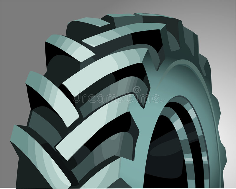 Tyre. Close up of a vehicle tyre vector illustration