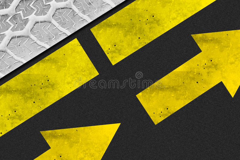 Tyre Asphalt Arrow Background Royalty Free Stock Photo