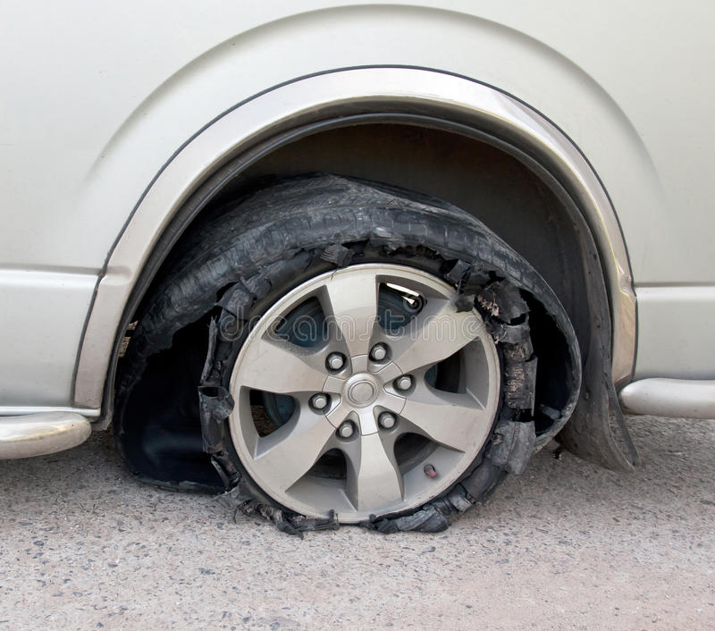Download Tyre broken on the road stock photo. Image of pollution - 28798776
