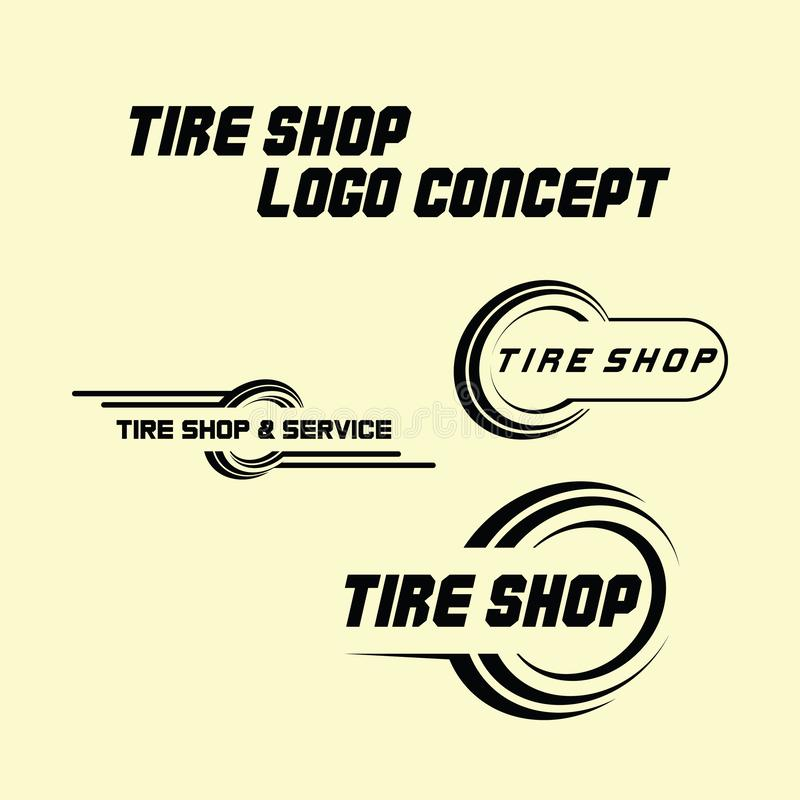 Tyre Business Branding, tyre logo shop icons, tire icons, car tire simple icons. Tyre Shop Logo Design - Tyre Business Branding, tyre logo shop icons, tire icons vector illustration