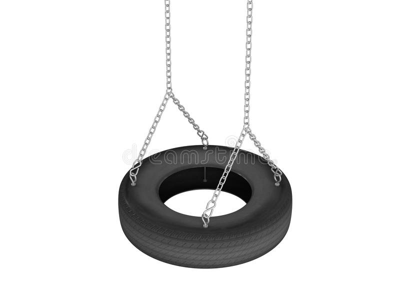 Tyre cover swing vector illustration