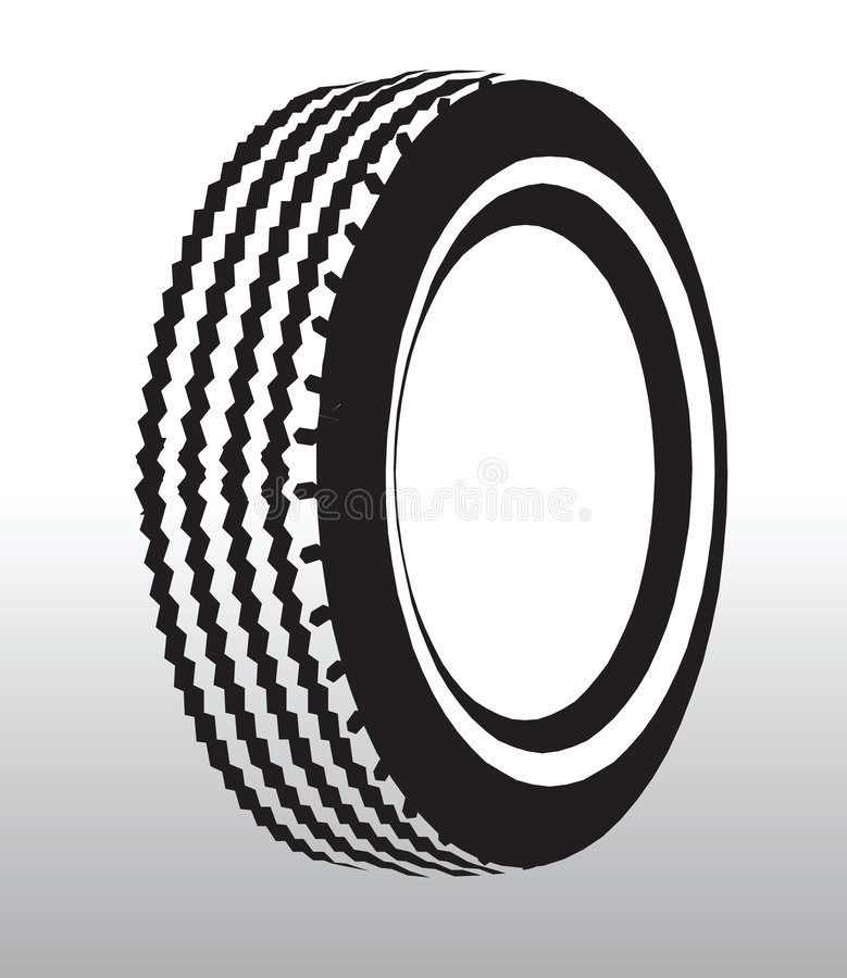 Tyre drawing. Vector illustration of a tyre royalty free illustration