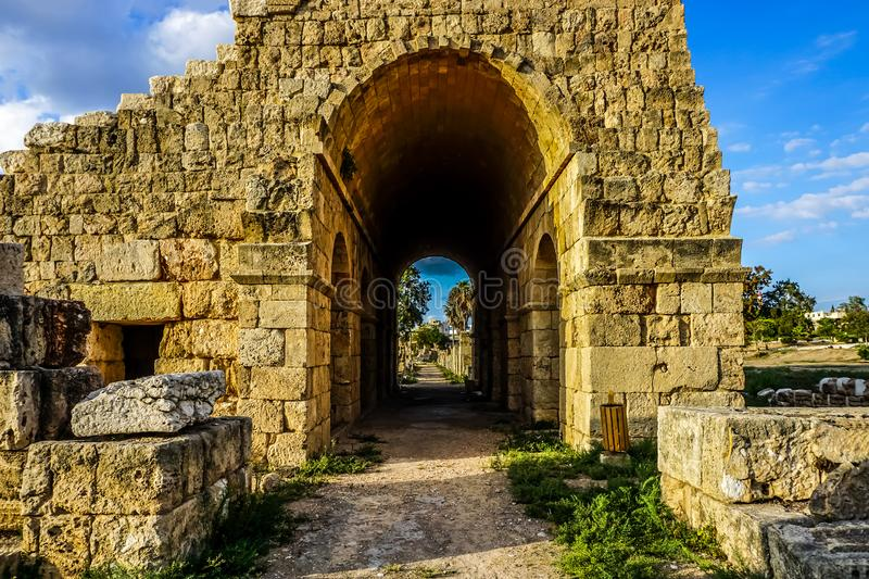 Tyre Hippodrome and Necropolis 18 royalty free stock images