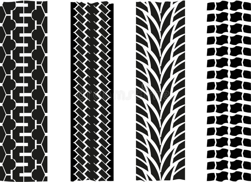 Tyre imprint. A vector drawing represents tyre imprint design royalty free illustration