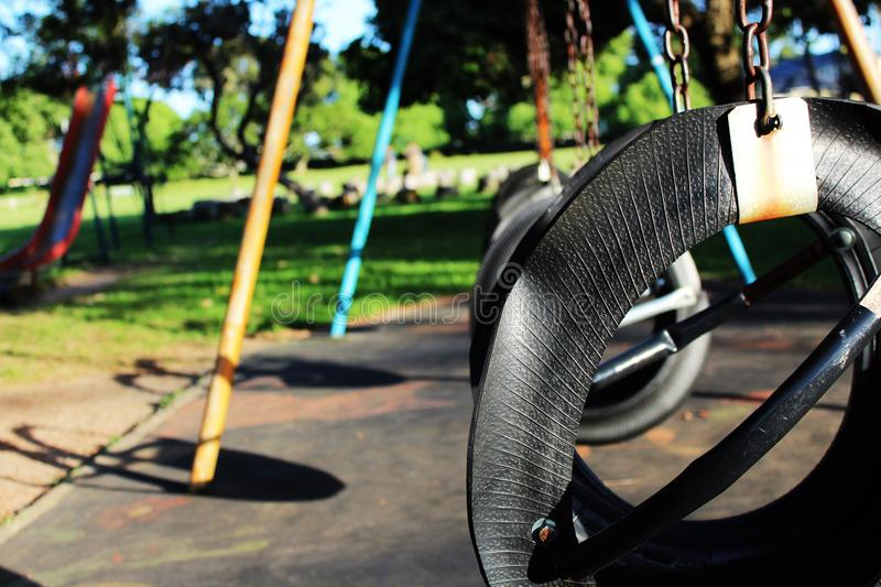 Tyre swing stock photography