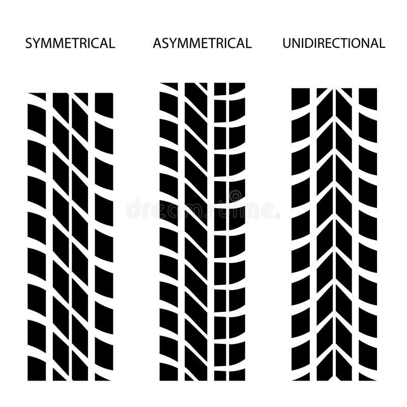 Download Tyre Symmetrical Asymmetrical Unidirectional Stock Vector - Image: 24654850
