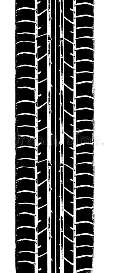 Tyre trace. Trace of the winter tyre royalty free illustration