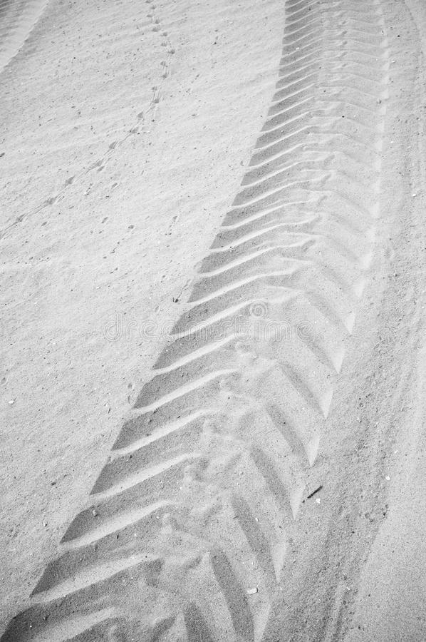 Tyre track background stock photo