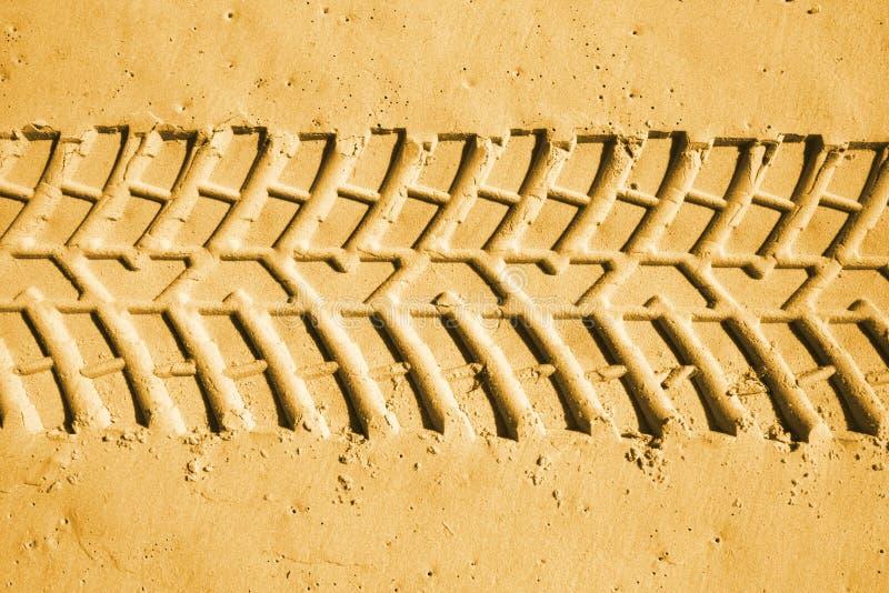 Tyre tracks stock image