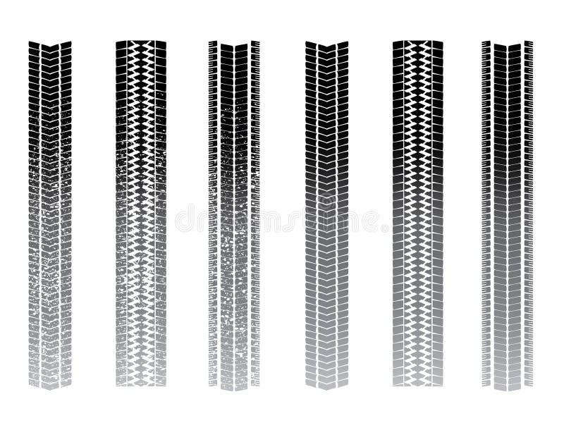 Tyre tracks vector illustration