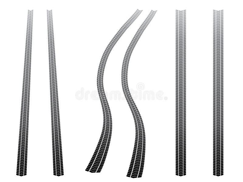 Tyre tracks royalty free illustration