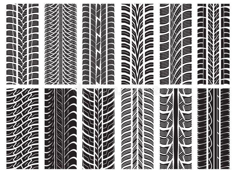 Tyre tracks stock illustration