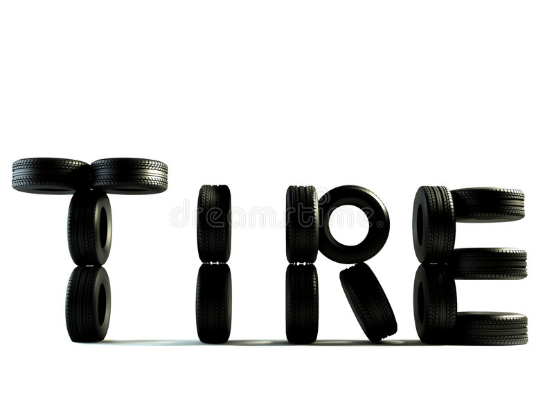 Download Tyre word stock photo. Image of automobile, rendering - 3951618