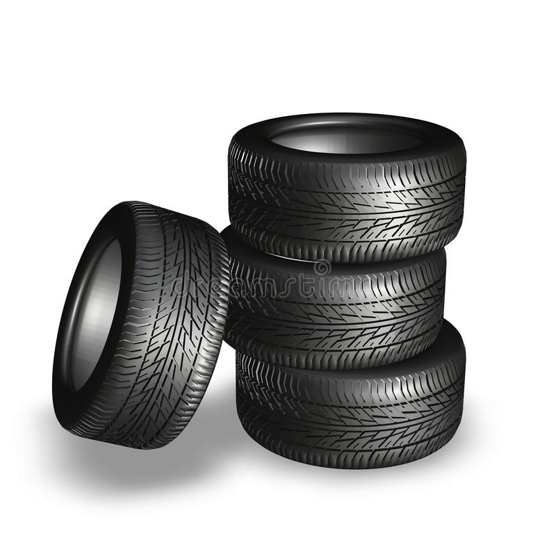 Download Tyres stock illustration. Image of rubber, road, automobile - 16106914