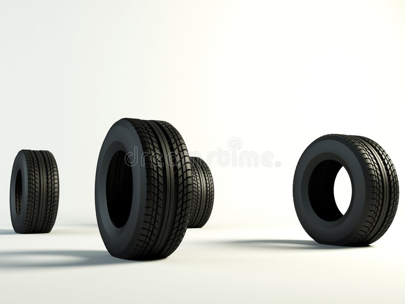 Download Tyres 4 stock illustration. Image of tires, tread, drive - 3778301