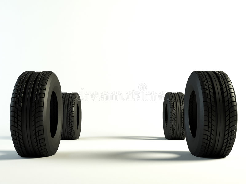 Tyres 4 front royalty free stock image