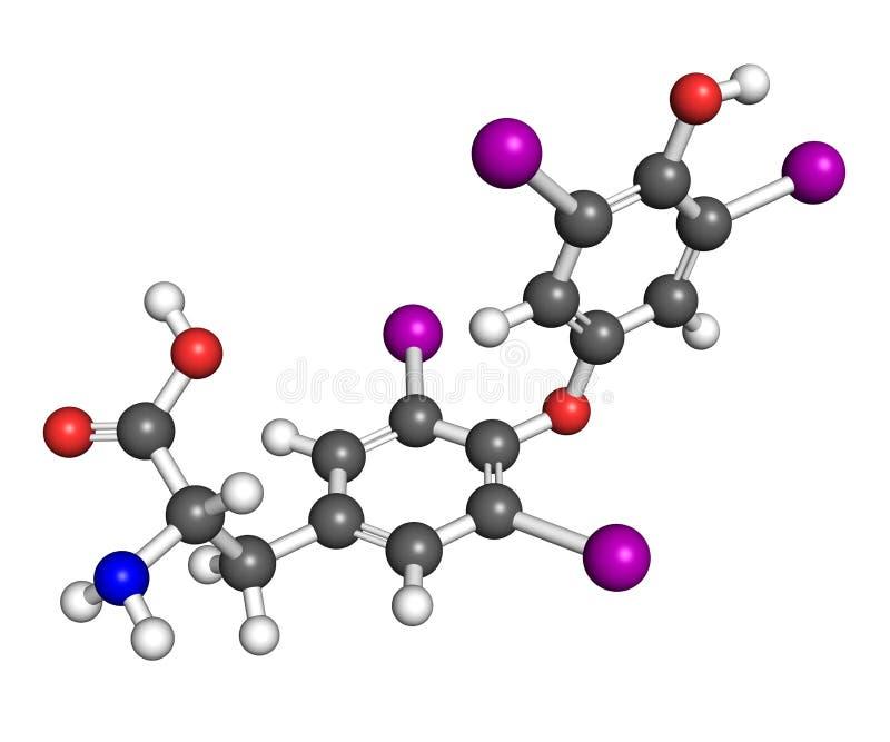Tyroksyny molekuła royalty ilustracja