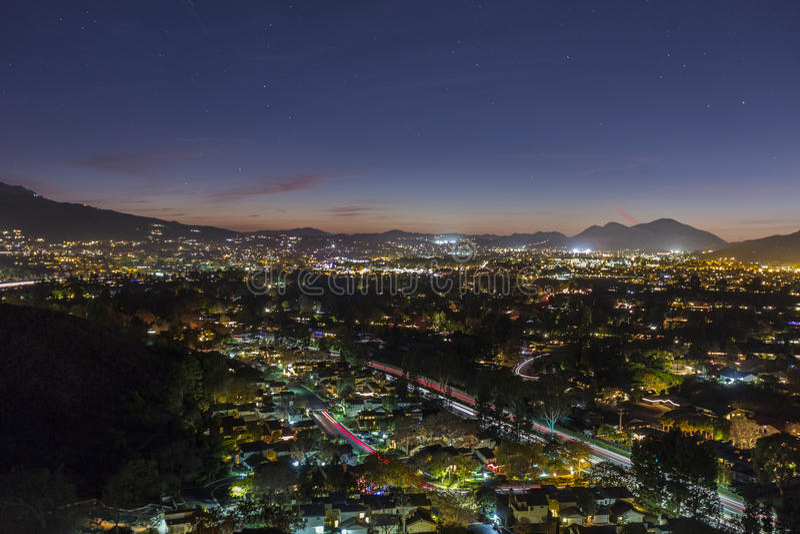 Tysiąc dębu Kalifornia nocy fotografia royalty free