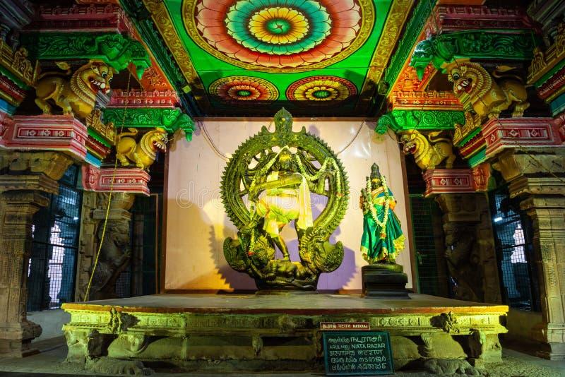 Tysiąc filarów sal, Meenakshi świątynia obrazy royalty free