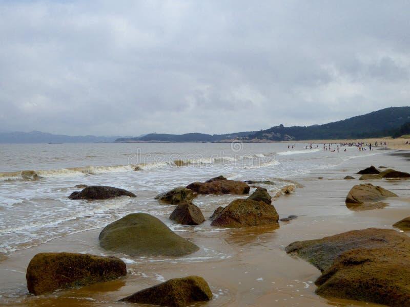 Tysiąc kroka piaska plaż fotografia stock