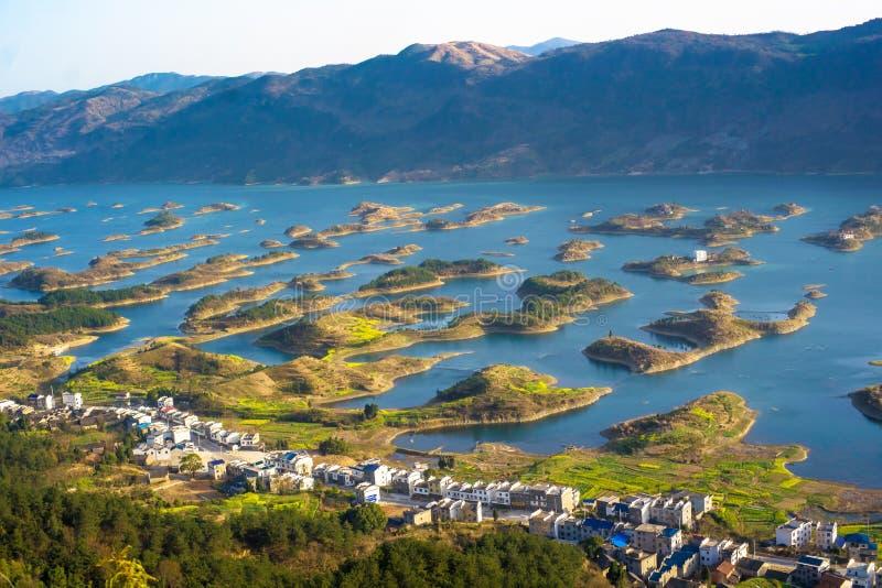 Tysiąc Wysepka jezior obraz royalty free