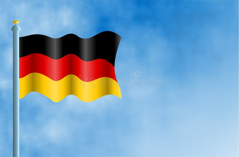 tysk royaltyfri illustrationer