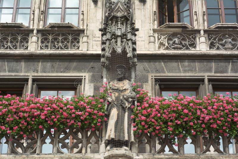 Tysk arkitektur i Munich royaltyfri fotografi