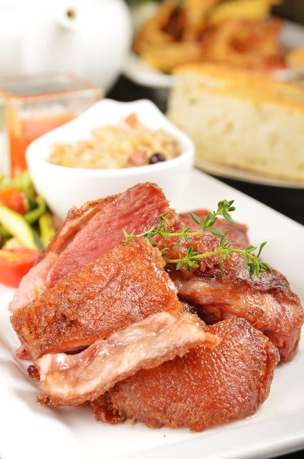 Tysk BBQ-porkknoge royaltyfri fotografi