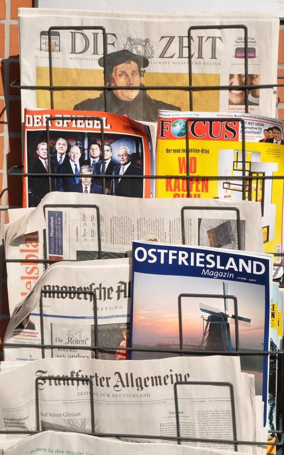 Tysk dagstidning fotografering för bildbyråer