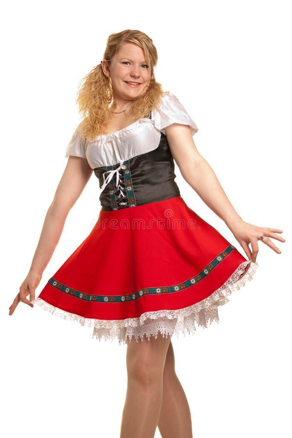 tysk flicka isolerad white royaltyfri bild