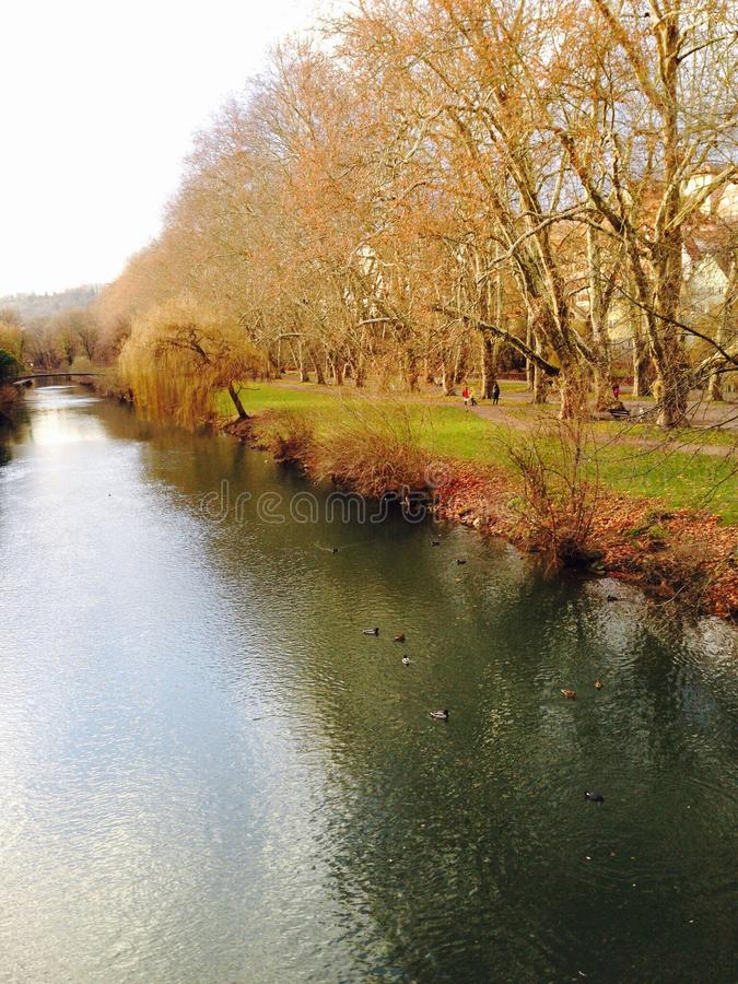 Tysk flod arkivfoto