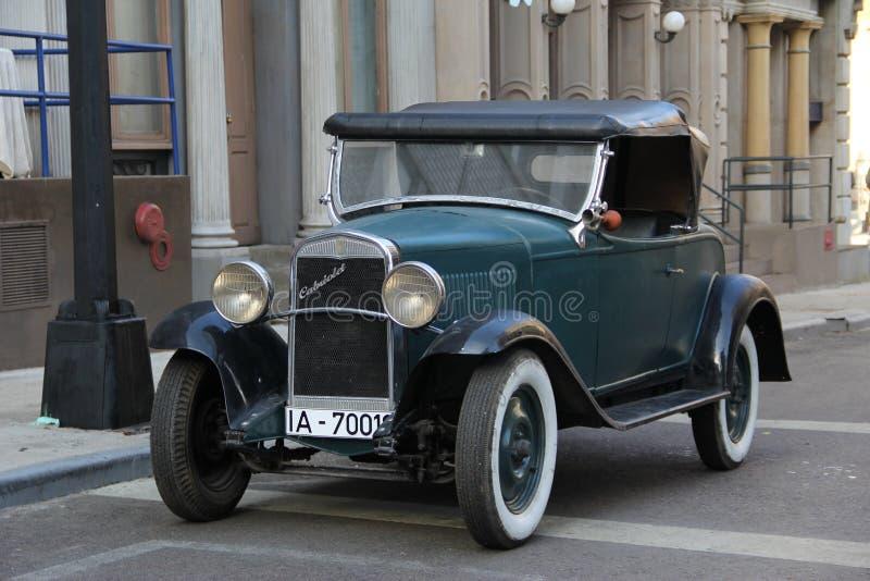 Tysk gammal bil chevrolet arkivbilder