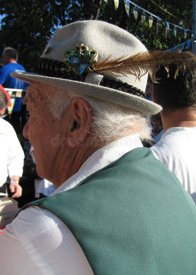 tysk hattman royaltyfri fotografi