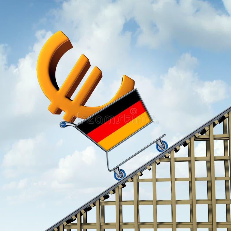 Tysk inflation royaltyfri illustrationer