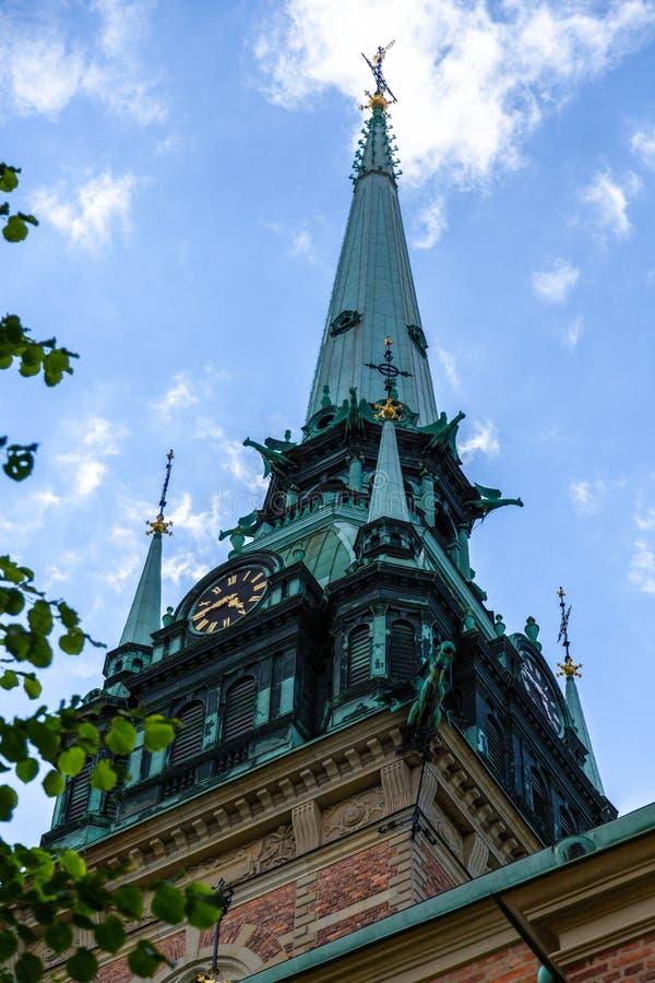Tysk kyrka i Stockholm den gamla staden stan Gamla royaltyfri foto