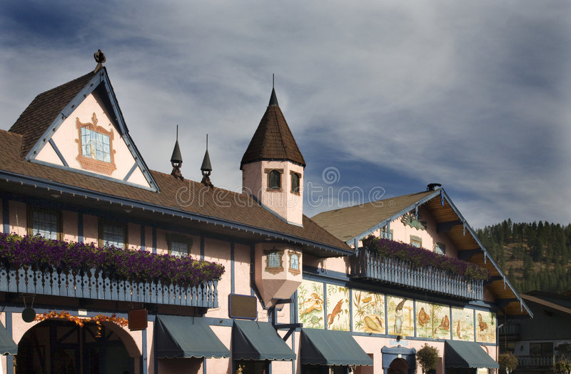 tysk leavenworth washington för byggnader royaltyfri foto