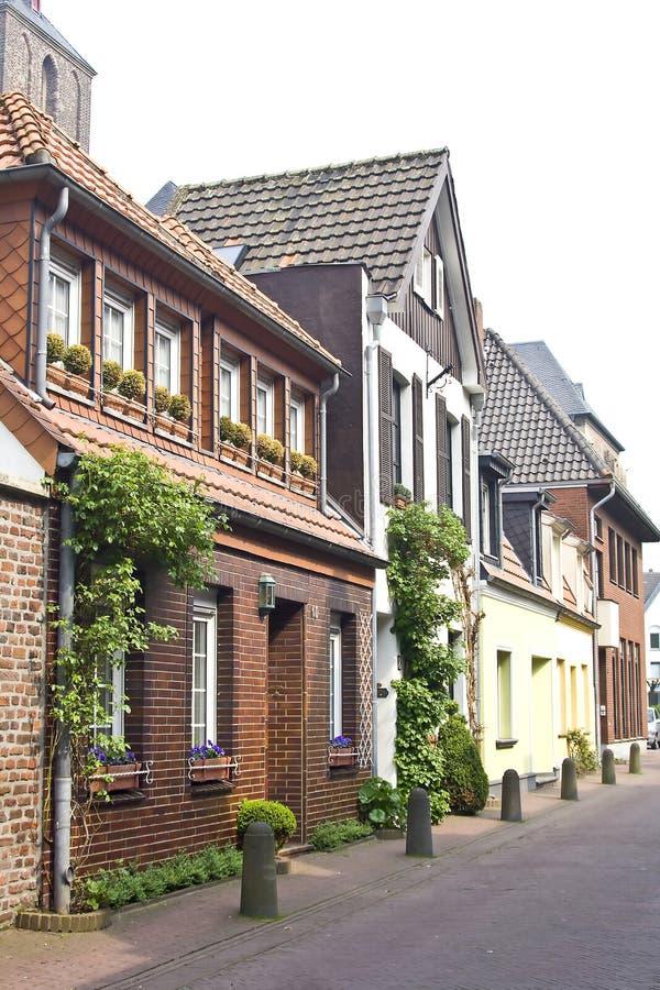 tysk liten stad fotografering för bildbyråer
