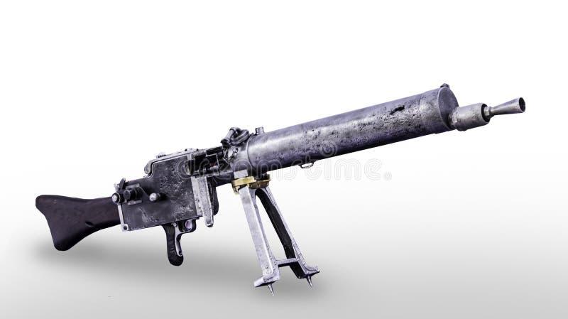 Tysk manuell maskingevärMG 08 modell 1908 år royaltyfri bild
