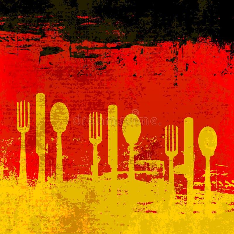 tysk menymall stock illustrationer