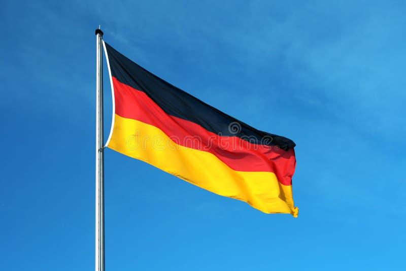 tysk national för flagga arkivfoton