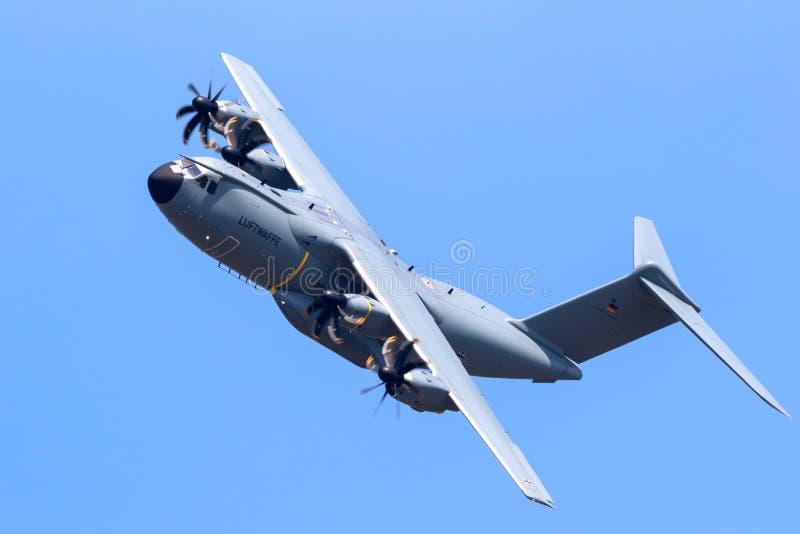 Tysk nivå för transport för flygvapenLuftwaffe flygbuss A400M militär arkivfoto